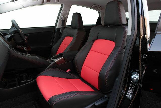 Auto wear オートウェア シートカバー プリウス30系 G's専用デザイン ブラック + 赤色 プリウス ZVW30 2011年12月〜2015年12月 G's