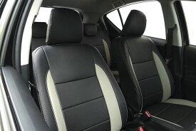 Auto wear オートウェア シートカバー アクア専用デザイン ブラック + サンドグレー アクア NHP10 2011年12月〜 G / S / X-URBAN