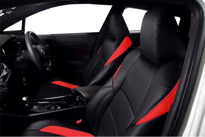 Auto wear オートウェア シートカバー C-HR専用デザイン ブラック + 赤色 C-HR ZYX10 2016年12月〜 ハイブリッド