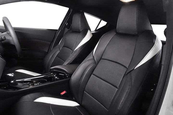 Auto wear オートウェア シートカバー C-HR専用デザイン ブラック + ホワイト C-HR ZYX10 2016年12月〜 ハイブリッド