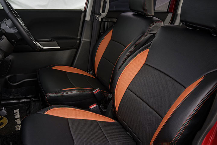 Auto wear オートウェア シートカバー クロスビー専用デザイン ブラック + オレンジ クロスビー MN71S 2017年12月〜