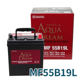 AUQA DREAM カーバッテリー 充電制御車対応 AD-MF55B19L 適合型式 [38B19L 40B19L 42B19L 44B19L] 高性能 シールド型メンテナンスフリー 沖縄・離島は配送不可