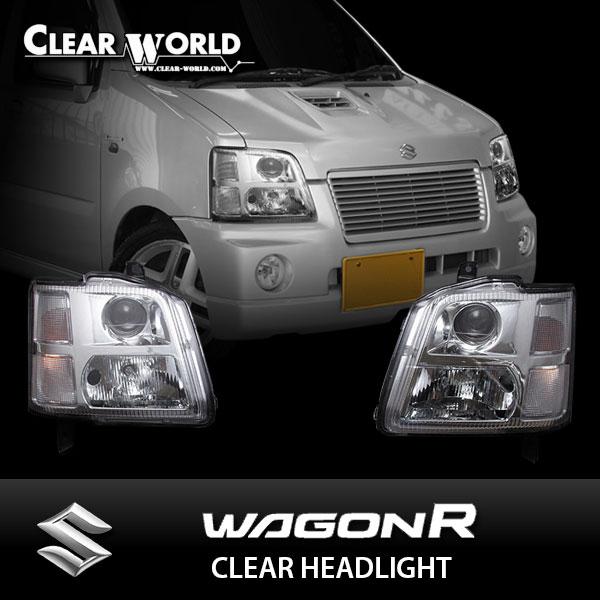 クリアワールド スズキ ワゴンR [MC11S/MC21S] クリアヘッドライト インナークローム