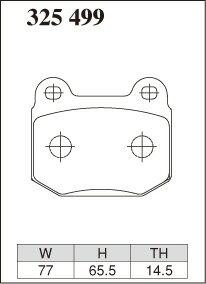 DIXCEL ディクセル ブレーキパッド Xタイプ リア用 スカイライン BNR32 (GT-R) 93/2〜95/1 V SPEC ※沖縄・離島・同梱時は送料別途