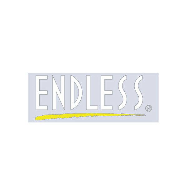 [ENDLESS] エンドレス ブラッシュラインステッカー【Sサイズ】ホワイト (抜き文字タイプ) 1枚