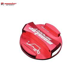 [Monster Sport] モンスタースポーツ レーシングオイルフィラーキャップ(ワンタッチタイプ) レッドアルマイト ジムニーシエラ JB74W 18.07〜 K15B