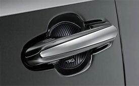 TRD ドアハンドルプロテクター ブラック 2枚セット RAV4 MXAA52 MXAA54 AXAH52 AXAH54 19/4〜