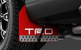 TRD マッドフラップ レッド RAV4 MXAA52 MXAA54 AXAH52 AXAH54 19/4〜 除くマッドガード047 、サイドスカート512、リヤバンパースポイラー513 付車
