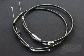 ゼファー400 アクセル ワイヤー STD 新品 ブラック