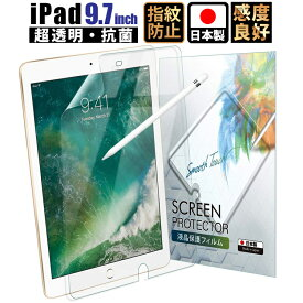 【1点購入で100円OFFクーポン!!】iPad 9.7 フィルム iPad Pro Air Air2 9.7 フィルム 透明 高光沢 液晶保護フィルム 日本製 ゆうパケット