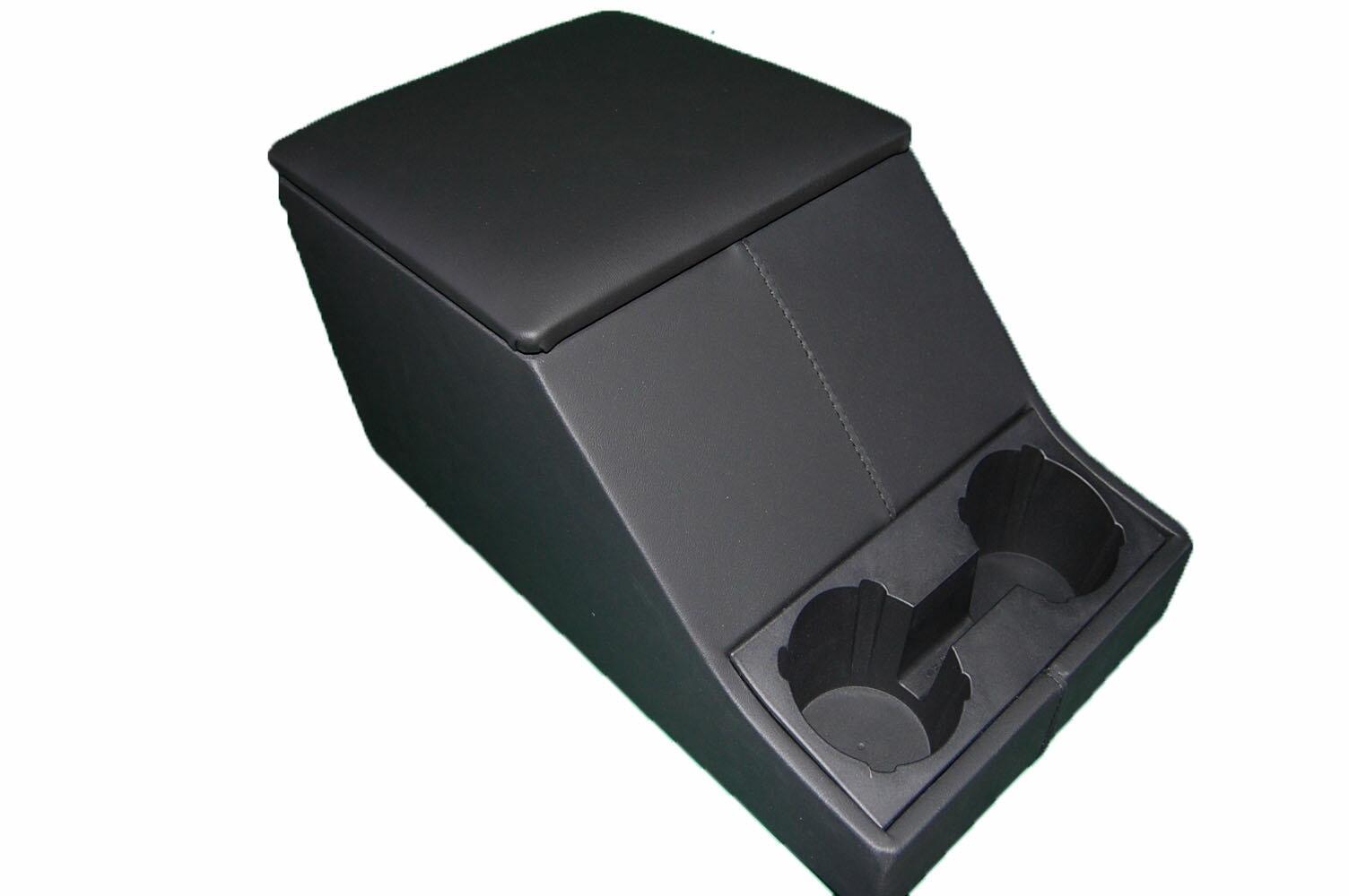 センターコンソールボックス/キャビーボックス【UK社外BRITPART製】 +ドリンクホルダー&ビニールレザーアームレスト 全2色 黒・グレー ※写真:黒[適合車種]ディフェンダー全モデル対応Cubby Box DEFENDER all models