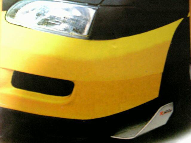 3色より選択RACINGバンパーウィングカナードドレスアップに エアロスポイラー フロントバンパースカート