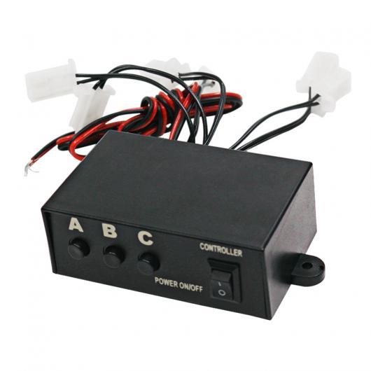 AL 車用メッキパーツ ユニバーサル LED ストロボフラッシュライト点滅3モードコントローラボックス DC12V カー トラック AL-AA-0926