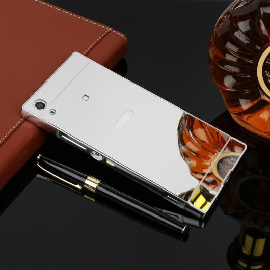 AL スマートフォンケース メタル ミラー ケース Xperia XZ1 XZPremium XZs XZ1Compact XA1 XA1Ultra アルミメタルフレーム+アクリル保護 背面 カバー 選べる3カラー 選べる6適用品 AL-AA-1220