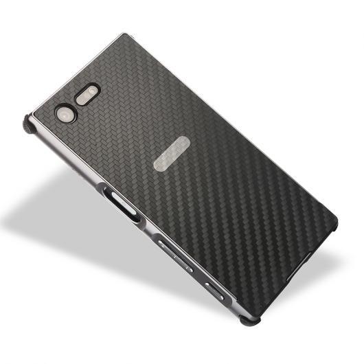 AL ソニー XPERIA XZs XZ1 X Compact XA1 Ultra ケースアルミバンパー メタル フレーム+カーボンファイバー 背面 カバー XZ Premium ケース 選べる5カラー グループ2 AL-AA-2128