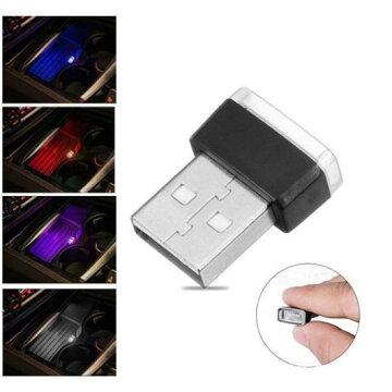 AL車用ケーブル1XUSB装飾ランプ照明LEDライトユニバーサルPCポータブルプラグアンドプレイ赤青ホワイトパープル選べる5バリエーションIceBlue/Red/White/Blue/PurpleAL-AA-7259
