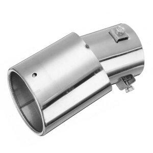 AL 汎用マフラーチップ マフラーカッター エキゾースト ステンレス スチール パイプ クロームトリム リアテール スロート ライナー AL-AA-9215