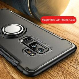 AL スマホ カバー ケース マグネット 電話 エッジ プロ フィンガーリング ブラック〜ローズゴールド Galaxy S7Edge, S7, S8, S8Plus, S9, S9Plus, S10, S10+ AL-BB-0662