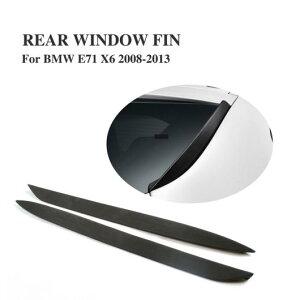 AL 車用外装パーツ リア ウインドウ フィン サイド フィンS ウイング フロントガラス スポイラー 適用: BMW E71 X6 X6M 2008-2013 PU ブラック プライマー 1ペア AL-DD-7984