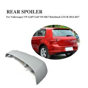 AL 車用外装パーツ リア ルーフ スポイラー ウインドウ ウイング 適用: フォルクスワーゲン VW ゴルフ 7 MK7 VII GTI R ハッチバック 2014-2017 FRP 未塗装 グレー プライマー AL-DD-8084