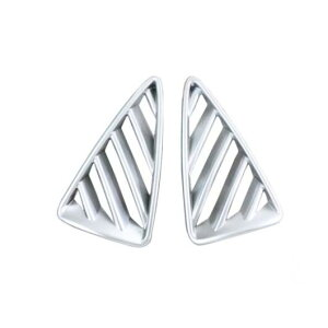 AL ABS エアコン AC ベント フレーム カバー トリム ダッシュボード エア ネット 2 ピース/2 適用: マツダ CX-3 CX3 2016 2017 2018 マット AL-FF-1450
