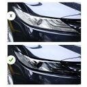 AL TPU トランスペアレント ブラック ヘッドライト フィルム 傷つき防止 保護 ステッカー 適用: トヨタ カムリ 2018 2…