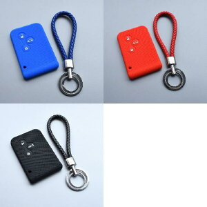 AL キーカバー シリコン ラバー キー ケース カバー 適用: ルノー/RENAULT メガーヌ R.S. セニック 3ボタン カード キー プロテクター ケース シェル ブルーセット〜ブラックセット AL-II-4832