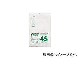 日本サニパック/SANIPAK エコノプラス薄手タイプ半透明45L20枚 E40(3827551) JAN:4902393504409