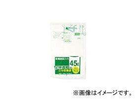 日本サニパック/SANIPAK HT41容量表記入り白半透明ゴミ袋45L 10枚 HT41HCL(3754626) JAN:4902393507417