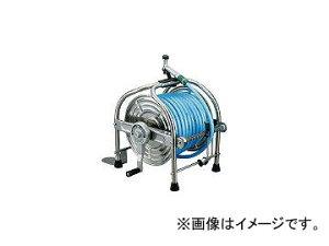 ハタヤリミテッド/HATAYA ステンレス(SUS304)ホールリール 40m耐圧ホース レバーノズル付 SLA40P(1065211) JAN:4930510418155