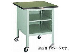 トラスコ中山/TRUSCO OWC型小型作業台 棚板付 700×700 キャスター付 OWC7070B(2424070) JAN:4989999650990