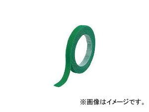 トラスコ中山 マジックバンド結束テープ 両面 幅10mm×長さ10m 緑 MKT-10100-GN(7541937)