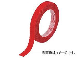 トラスコ中山 マジックバンド結束テープ 両面 幅20mm×長さ5m 赤 MKT-20V-R(7542089)