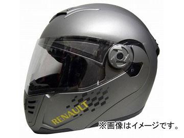 2輪 石野商会 RENAULT システムヘルメット RN-333 マットチタン サイズ:フリーサイズ(57〜60cm未満) JAN:4937641071266