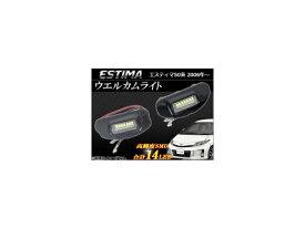 AP LEDウェルカムライト 14連 AP-WL-ESTM50 入数:1セット(左右) トヨタ エスティマ 50系(GSR50,GSR55,ACR50,ACR55) 2006年01月〜