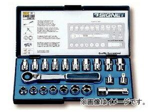 """シグネット/SIGNET ボルテックスソケットセット(10-19mm・3/8""""-3/4"""") 品番:20675 JAN:4545301014487"""