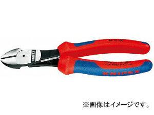 クニペックス/KNIPEX 強力型斜ニッパー 品番:7412-160 バネ付 JAN:4003773065128