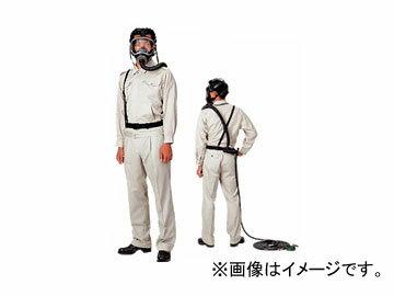興研/KOKEN エアラインマスク(逃電アース形) 面体形 サカヰ式18号HVT-Y型 2本蛇管式