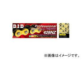 2輪 D.I.D プロフェッショナル ノンシールチェーン ゴールド&ブラック 122L スズキ RM85L 85cc 2007年〜2008年