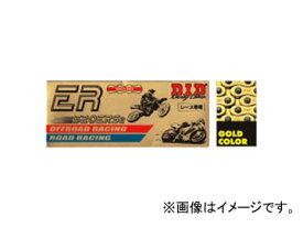 2輪 D.I.D EXCLUSIVE RACING ノンシールチェーン ゴールド 106L カワサキ ニンジャ250R 250cc 2008年〜2011年