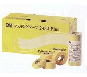 スリーエム/3M マスキングテープ 243J Plus 黄色 巾9mm×長さ18m 3M243J9P 入数:12ロール