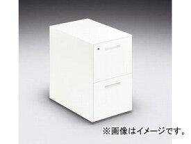 ナイキ/NAIKI リンカー/LINKER カスティーノ ワゴン 2段 クリアーホワイト CND046SYC-W 395×600×611mm