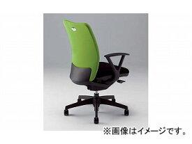 ナイキ/NAIKI リンカー/LINKER シェルモ 事務用チェアー ライトグリーン WE513F-LGR 619×620×908〜978mm