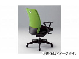 ナイキ/NAIKI リンカー/LINKER シェルモ 事務用チェアー ライトグリーン WE513FP-LGR 619×620×908〜978mm