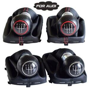 AL 5速/6速 マニュアル ギア シフト レバー スティック シフター 適用: アウディ A3 S3 2001 2002 2003 ゲートル ブーツ ケース カバー レッド・6速〜シルバー・6速 AL-EE-3905