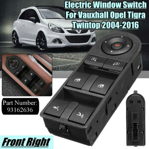 AL ABS RHD 電動 ウインドウ スイッチ フロント 右 ドライバ サイド 適用: ボクスホール/VAUXHALL ティグラ ツイントップ コンパーチブル 2004-2016 93162636 C AL-HH-1928