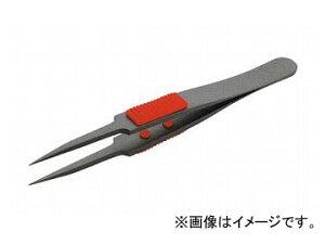 トラスコ中山/TRUSCO ラバーグリップ付ピンセット フッ素コート 115mm 極細鋭型 TSP224(2997444) JAN:4989999393651
