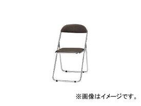 藤沢工業/FUJISAWA TOKIO パイプ椅子 シリンダ機能付 スチールメッキパイプ ブラウン CF100M BR(2417901) JAN:4942646010721