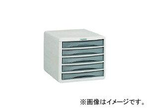 トラスコ中山/TRUSCO プラスチックレターケース A4浅型タイプ 5段 PA4S5(0001546) JAN:4989999771664