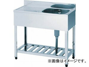 アズマ 一槽水切シンク右水槽 1200×600×800 HPM1-1200R(4551982) JAN:4560155870553